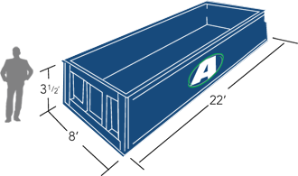 rent a 20 yard roll-off container