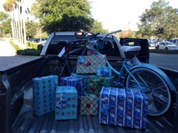Advanced Disposal provides gifts for five children